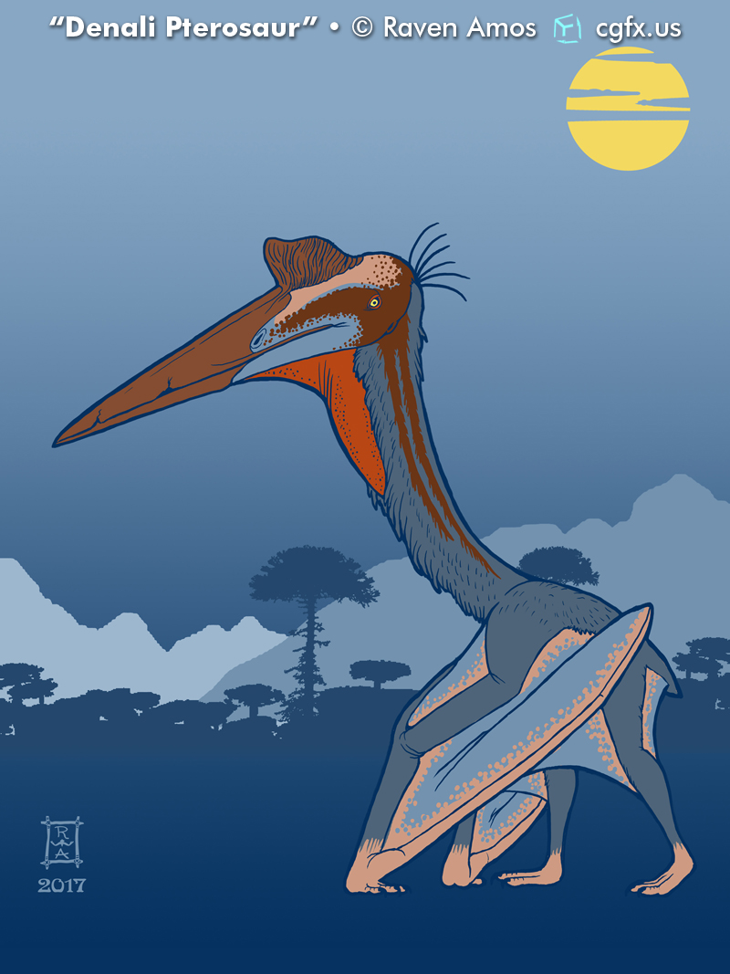 A large azhdarchid pterosaur, known in Alaska only from footprints.