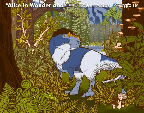 Nanuqsaurus in the Garden of Ancient Plants.